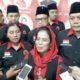 Tasyakuran DPC PDI Perjuangan Kota Malang. Sri Untari bersama I Made Rian DK.(gie)