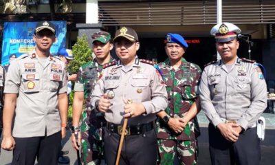 Kapolres Malang Kota AKBP Dony Alexander SIK MH usai gelar pasukan Operasi Zebra Semeru 2019 di Mapolres Malang Kota. (gie)