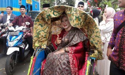 Nurul Faridawati usai dilantik menjadi anggita Dewan Kota Malang 2019-2024. (gie)