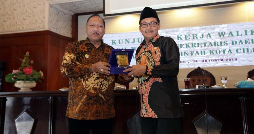 Walikota Malang Sambut Walikota Cilegon dengan Kolaborasi Pentahelix