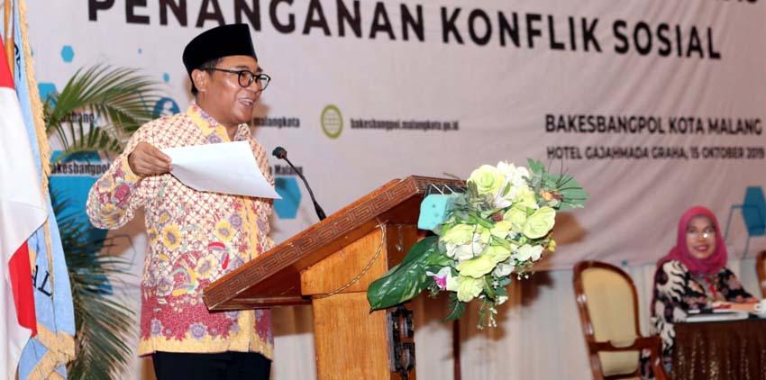 Wawali Sofyan Edi Kota Malang Harus Terhindar dari Konflik Sosial Agar Selalu Kondusif