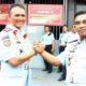 Kadiv Pemasyarakatan Bangka Belitung Yudi Suseno (kiri) bersama Kalapas Klas I Malang Anak Agung Gde Krisna usai sertijab.(kik)