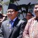 Walikota Malang Drs H Sutiaji saat hadiri serah terima jabatan Kejari Kota Malang dari Amran Lakoni SH MH kepada Andi Darmawangsa SH MH. (gie)
