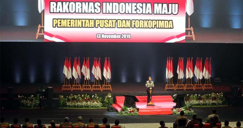 Wawalikota Malang Rakornas, Siap Sinergi dengan Program Nasional, Jokowi Siapa yang Mengganggu Bisa Kena Gigit