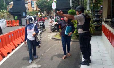 Penjagaan di Polres Malang Kota semakin diperketat. (ist)