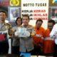 GENDAM : Tersngka Aldila dan Agus saat dirilis di Mapolres Malang Kota. (gie)