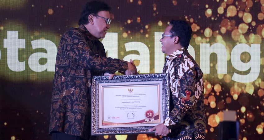 Pemkot Malang Sabet Penghargaan Top Pengelolaan Pengaduan Pelayanan Publik Tahun 2019