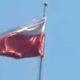 Bendera merah putih berkibar terbalik di Terminal Hamid Rusdi. (Repro)