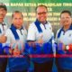 JEMPOL : Ketua DPN Peradi Suwara Advokat Indonesia, Dr Juniver Girsang SH MH, Ketua DPC Peradi Kota Besar Surabaya, Dr. Abdul Salam, SH, MH, dan Ketua DPC Peradi Malang Raya Iwan Kuswardi SH. (gie)