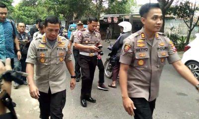 Kapolresta Malang Kota Kombes Pol Dr Leonardus saat melakukan olah TKP pada Selasa siang. (Ist)