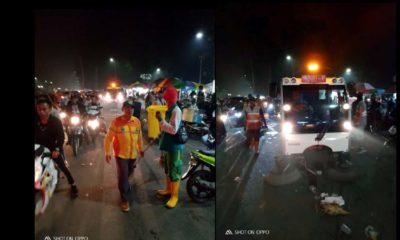 'Pesta' Tahun Baru 2020 Tinggalkan Sampah 5 Ton di Jalanan Kota Malang