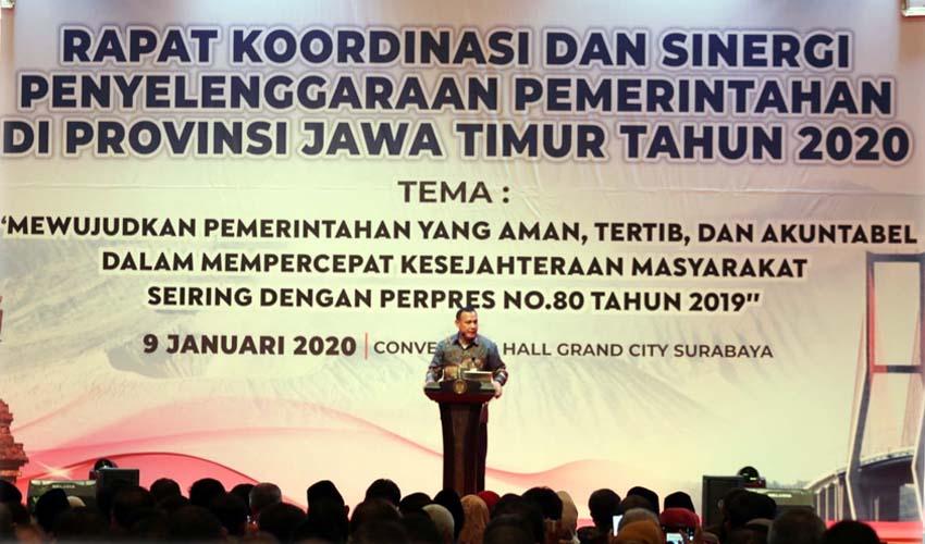 Rakor Perdana Pemprov Jatim, Hadirkan Ketua KPK RI