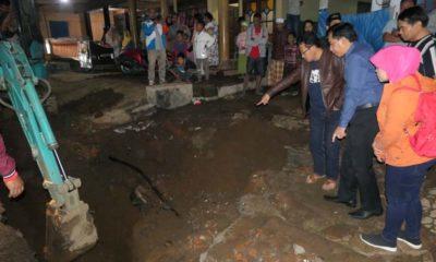Walikota Malang Cek Pipa Air Bocor di Pulungdowo Tumpang