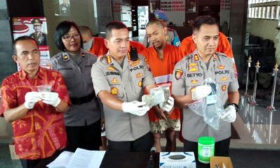 Tersangka Fariz, Frank, Eco dan Agam saat dirilis di Mapolresta Malang Kota. (ist)