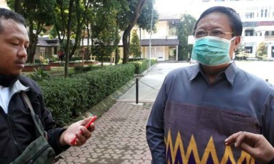Ketua APTISI Jatim Prof Dr Suko Wiyono SH MH di Kampus Universitas Wisnu Wardhana. (gie)