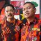 Ketua MPC Pemuda Pancasila Kota Malang H Agus Sunar Dewabrata SH dan Yiyesa Ndaru Abadi SH MHn sekretaris MPC PP Kota Malang. (gie)