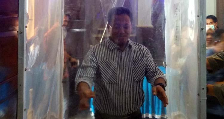 Walikota Malang Sutiaji 'disterilkan' di Bilik SiCo. (Adn)