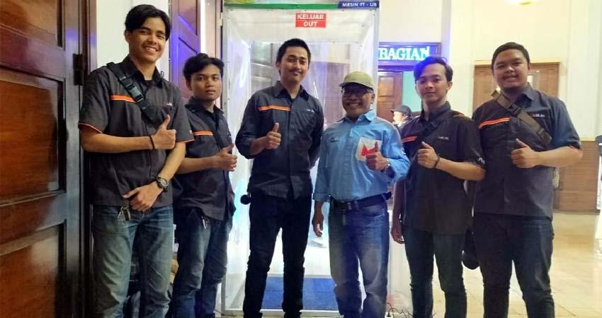 Tim mahasiswa UB pembuat Bilik SiCo. (Adn)