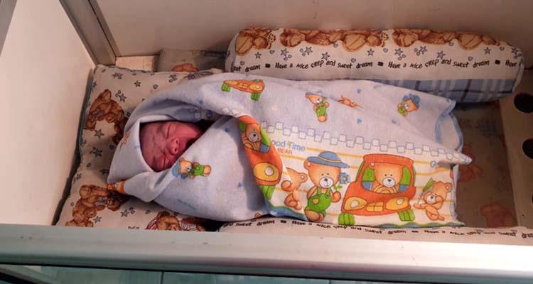 Bayi perempuan inilah yang ditemukan. (ist)