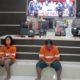 Tiga tersangka vandalisme provokatif saat dirilis di Polresta Malang Kota. (gie)