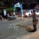 Petugas Laka Lantas Polresta Malang Kota melakukan olah TKP. (ist)