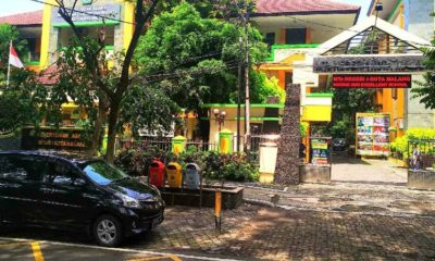 Suasana MTsN 1 Kota Malang sepi tanpa aktifitas pembelajaran sekolah. (adn)