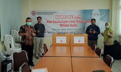 Polinema Face Shield Covid19, Diserahkan ke Klinik Muhammadiyah Sumberpucung dan IDI