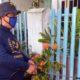 RELAWAN : Relawan nawak Aji saat menyemprot disinfektan di mushola dan masjid di Kota Malang (memontum/ist)