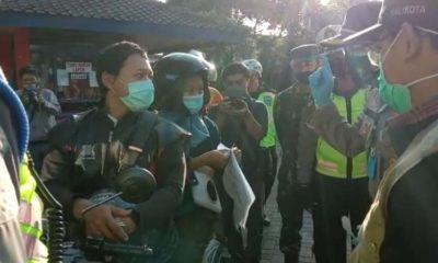 Erna dan suami saat datang ke Kota Malang. (Ist)
