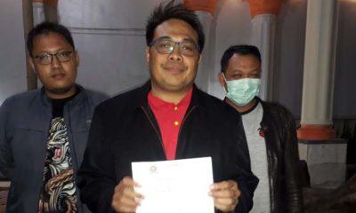 Sumardhan SH bersama Denny Eko Putra, kliennya. (gie)