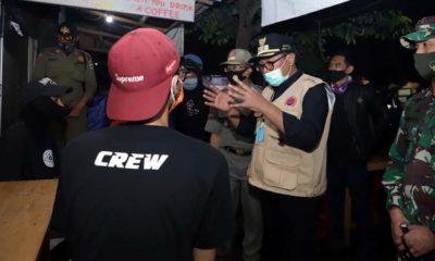 Wawalikota Malang Sisir Kafe, Temukan Bebas Jarak dan Tanpa Masker