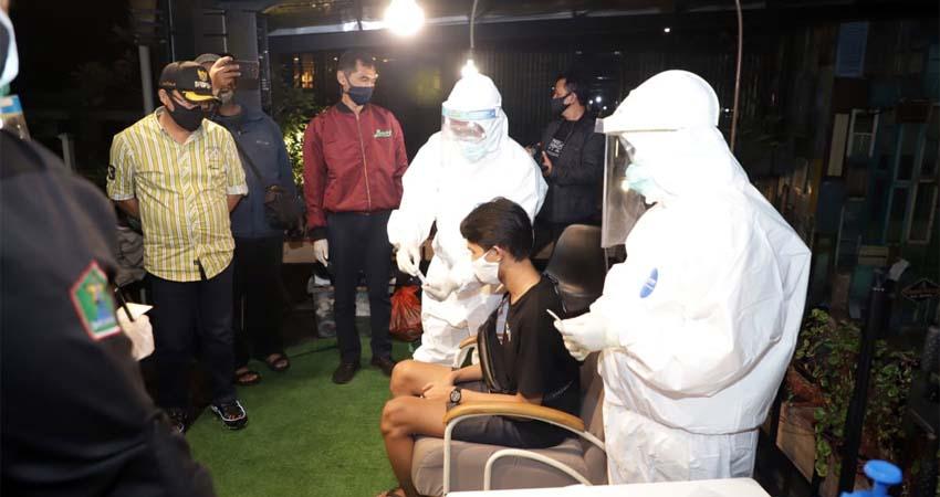 143 Rapid Tes, 3 Reaktif, Satgas Kota Malang Swab di Tempat