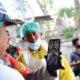 Kapolri Jendral Polisi Drs Idham Azis MSi saat melakukan video call dengan Kapolresta Malang Kota Kombes Pol Dr Leonardus dan Kasat Intel Kompol Sutiono. (ist)