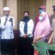 Pasutri Hartoyo dan Sukati saat disambut kedatangannya di Kelurahan Kidul Dalem