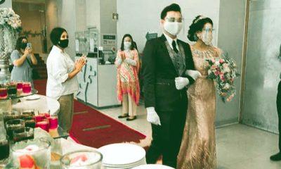 SIMULASI : Ibis Hotel mensimulasikan proses pernikahan dimasa pandemi Covid-19. (memo x/cw2)