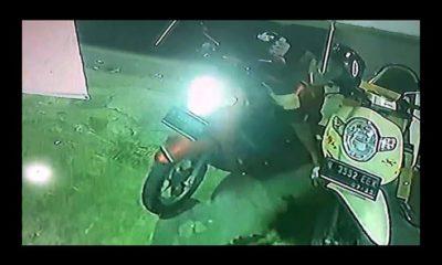 Rekaman CCTV saat pelaku melakukan aksinya. (ist)