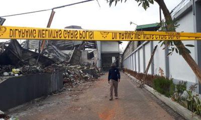 Tim Labfor Polda Jatim datangi Gudang PT Unirama Duta Niaga. (ist)