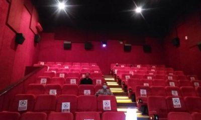 Ruangan bioskop menerapkan standart protokol kesehatan.