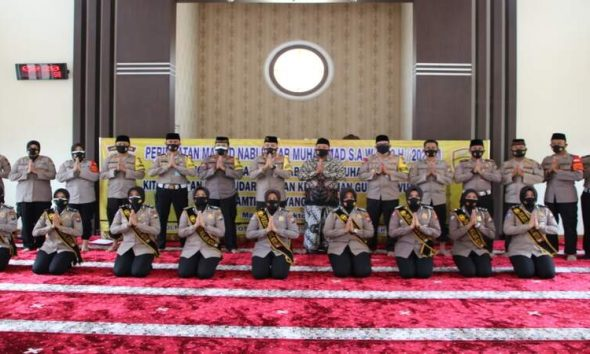 Peringatan Maulid Nabi Muhammad SAW di Polresta Malang Kota. (ist)