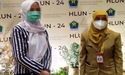 Kepala Dinas Kesehatan Kota Malang, Sri Winarni di acara seminar.