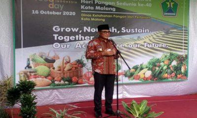 Sambutan Wakil Wali Kota Malang, Sofyan Edi Jarwoko di acara Peringatan Hari Pangan Sedunia Ke-40.