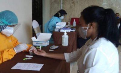 Disporapar mengadakan rapid tes pada peserta Business Matching Event.