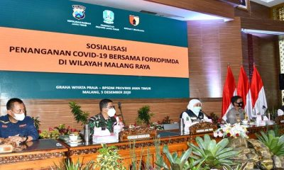 Rapat Koordinasi Forkopimda Jatim menganani Covid-19. (ist)