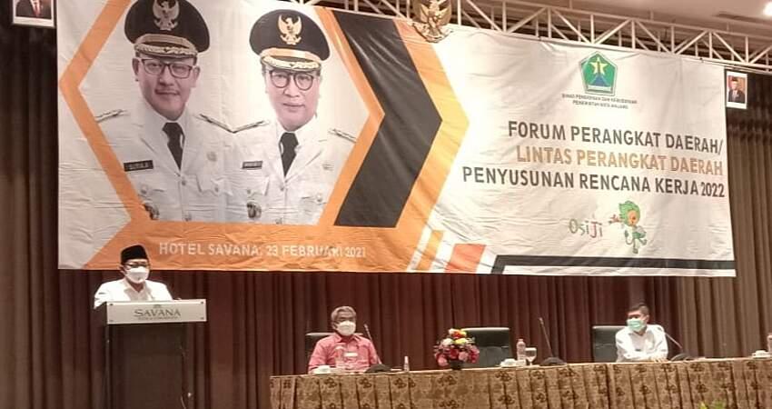 Hadiri Forum Diskusi Lintas Perangkat Daerah, Wali Kota Sutiaji Minta Guru Pendamping ABK Diberi Penekanan Transfer Knowledge