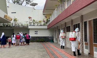 170 Penghuni Reaktif Covid-19, BPBD Lakukan Penyemprotan Disinfektan di Bhakti Luhur Malang