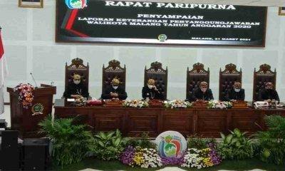 Penyelenggaraan Pemerintahan Tahun Anggaran 2020 Berakhir, Wali Kota Sutiaji Paparkan LKPJ
