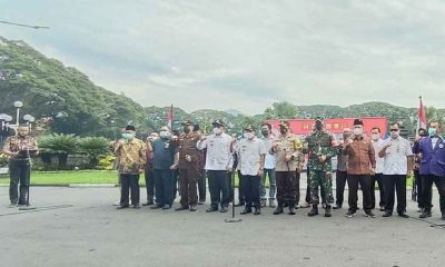 Wali Kota Sutiaji Bersama Forkopimda dan Elemen Gelar Deklarasi serta Sarankan Demo Secara Daring